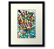 smiley face & the T Framed Print
