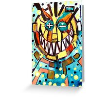 smiley face & the T Greeting Card