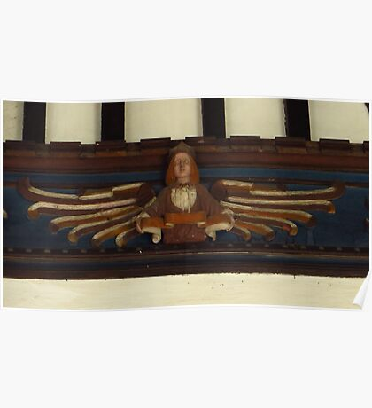 Angel Carving Poster