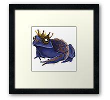 Psychedelic Blue Frog Framed Print