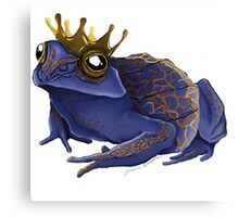 Psychedelic Blue Frog Canvas Print