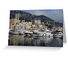 Monte Carlo Harbor, Monaco, French Riviera  Greeting Card