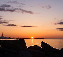 Toronto Skyline Panorama at Sunrise by Georgia Mizuleva