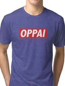 One Punch Man - Saitama - Oppai Tri-blend T-Shirt