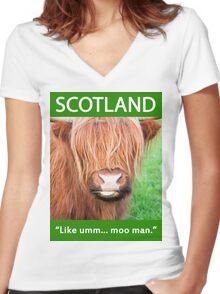 Moo Shirt Women's Fitted V-Neck T-Shirt
