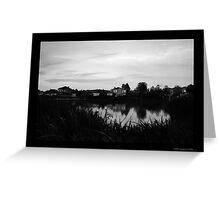 Fairways Village Lake, Craigieburn Greeting Card