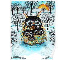 snow owls Poster