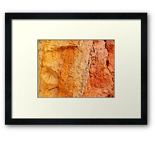 Alum Bay Colour Chart - I.O.W. Framed Print