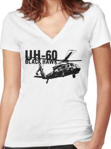 UH-60 Black Hawk Women's Fitted V-Neck T-Shirt