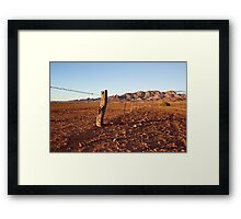 Outback Fence Framed Print