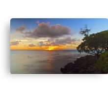 North Shore Sunset (Ghost Surfers) Canvas Print