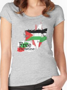 Free Palestine new design Oct. 2013 Women's Fitted Scoop T-Shirt