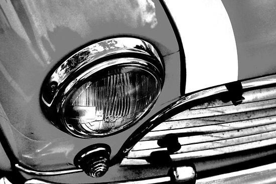 Grey Retro Mini Cooper by pearloil