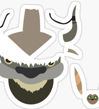 Appa and Momo Sticker