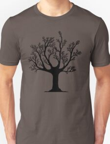 Dead tree skeleton sticker Unisex T-Shirt