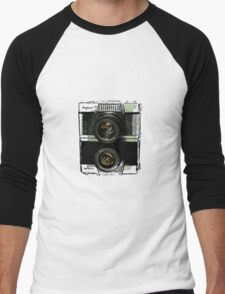Fujica retro Men's Baseball ¾ T-Shirt