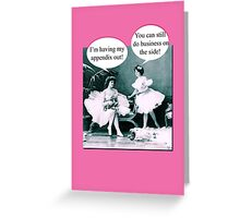 Funny Ballerinas Vintage card Greeting Card