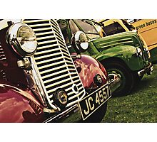 Classic Vehicles - Close Grills Photographic Print