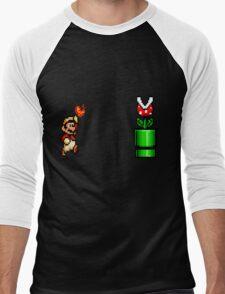 8 Bit Mario Vs Piranha Plant- Pixel T-Shirt