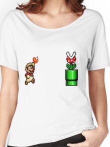 8 Bit Mario Vs Piranha Plant- Pixel Women's Relaxed Fit T-Shirt