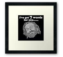 George Carlin - Seven Words Framed Print