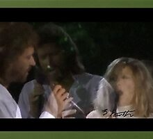 Ether Dimension of Barry Gibb and Barbara Streisand by sylviahowarth