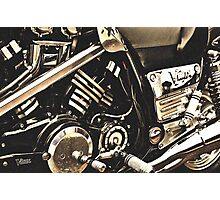 Classic Vehicles - Yamaha VMAX Engine Photographic Print