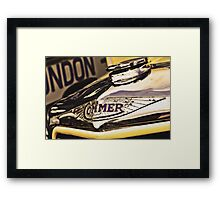 Classic Vehicles - Commer Badge Framed Print