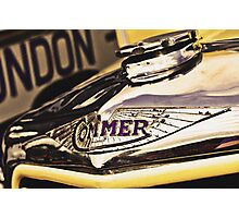 Classic Vehicles - Commer Badge Photographic Print