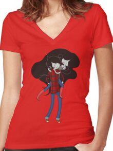 Nightosphere Forever Women's Fitted V-Neck T-Shirt