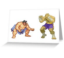 Street Fighter E.Honda vs. Sagat Greeting Card