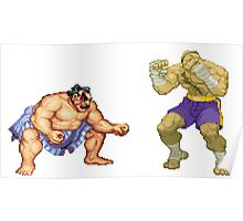 Street Fighter E.Honda vs. Sagat Poster