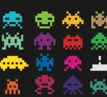 Aliens Invaders From Space Sticker
