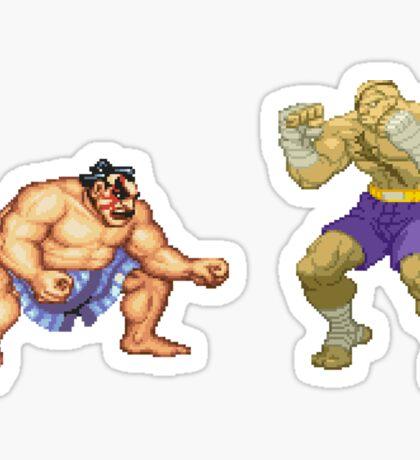 Street Fighter E.Honda vs. Sagat Sticker