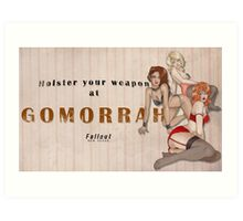 Holster your weapon Art Print
