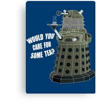 Dalek Cuppa (Colored) Canvas Print