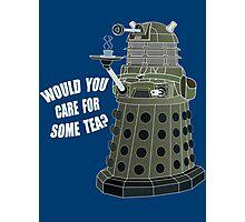 Dalek Cuppa (Colored) Photographic Print