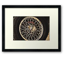 Classic Vehicles - At the Wheel Framed Print