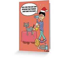 Funny Christmas drinking card Greeting Card