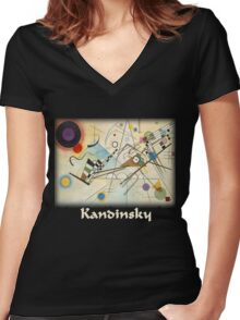 Kandinsky - Composition No. 8 Women's Fitted V-Neck T-Shirt