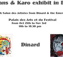 Exhibition in Dinard  by Karo / Caroline Evans (Caux-Evans)