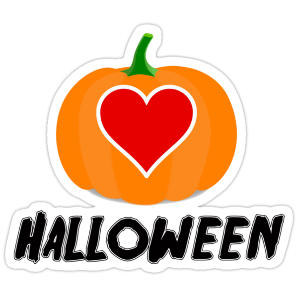 Love Halloween  (T-SHIRT & STICKER) by PopCultFanatics