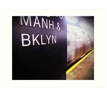 Manhattan and Brooklyn Art Print
