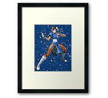 Street Fighter Chun Li Stars Framed Print
