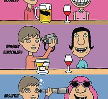 Funny Beer Goggles greeting card by partypeepsfun
