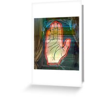 Psychic Palm Reader Greeting Card
