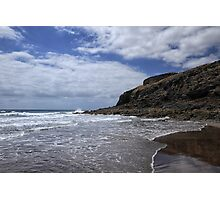 Beach on Lanzarote Photographic Print