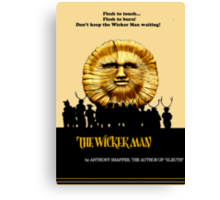 "The Wicker Man ""Vintage Style""  Canvas Print"