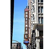 """Oriental Theater with """"Watercolor"""" Effect Photographic Print"""