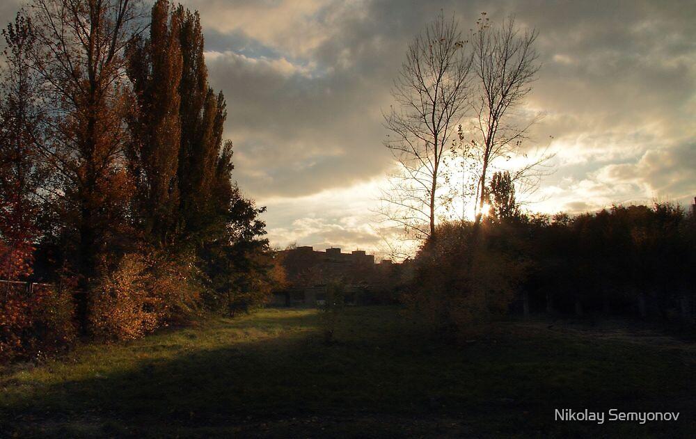 evening. windy by Nikolay Semyonov